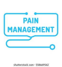 Pain management. Stethoscope icon. Flat vector illustration on white background.
