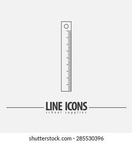 Pain Ruler Vector line