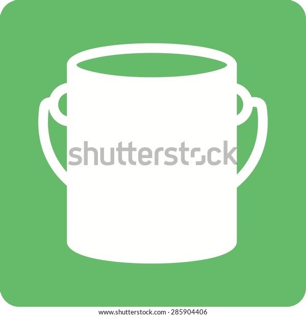Paint Box Bucket Paint Bucket Icon Stock Vector (Royalty