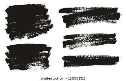 Paint Brush Background High Detail Abstract Vector Background Set 51