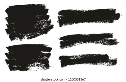 Paint Brush Background High Detail Abstract Vector Background Set 56
