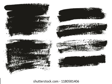 Paint Brush Background High Detail Abstract Vector Background Set 66