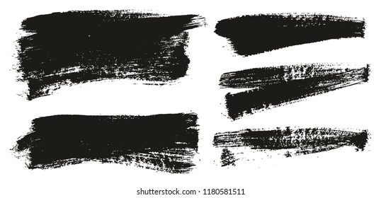 Paint Brush Background High Detail Abstract Vector Background Set 126
