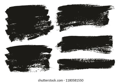 Paint Brush Background High Detail Abstract Vector Background Set 98