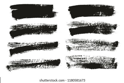 Paint Brush Background High Detail Abstract Vector Background Set 113