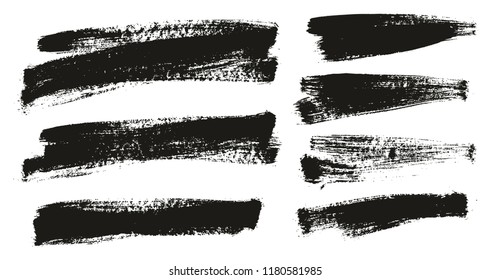 Paint Brush Background High Detail Abstract Vector Background Set 132