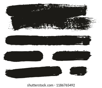 Paint Brush Background & Lines High Detail Abstract Vector Background Mix Set 99