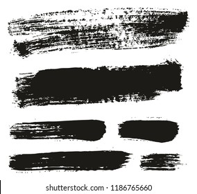 Paint Brush Background & Lines High Detail Abstract Vector Background Mix Set 54