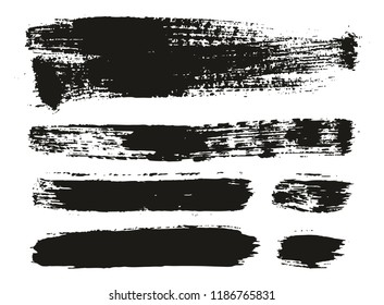 Paint Brush Background & Lines High Detail Abstract Vector Background Mix Set 106
