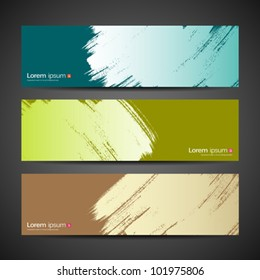 Paint brush banner colorful background. vector illustration