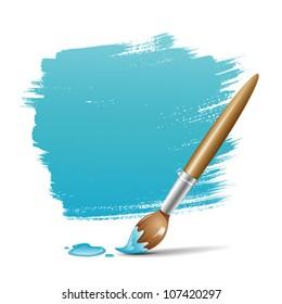 Paint brush. blue space your text design, vector illustration