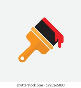 Paint brush flat icon. vector illustration