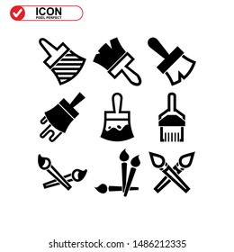 paint brush icon isolated sign symbol vector illustration - Collection of high quality black style vector icons