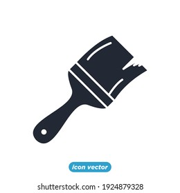 paint brush icon. paint brush symbol template for graphic and web design collection logo vector illustration