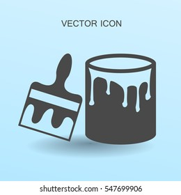 paint brush icon vector illustration