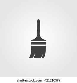Paint brush icon vector, solid logo illustration, pictogram isolated on gray