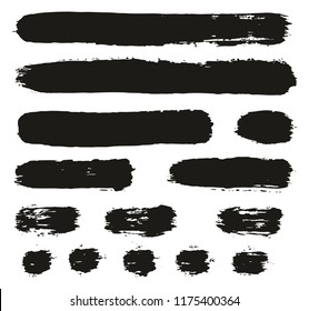 Paint Brush Lines High Detail Abstract Vector Background Set 93