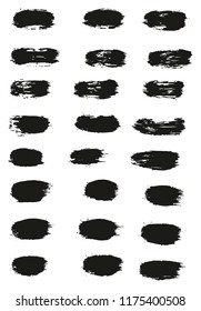 Paint Brush Lines High Detail Abstract Vector Background Set 45