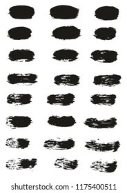 Paint Brush Lines High Detail Abstract Vector Background Set 41
