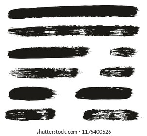 Paint Brush Lines High Detail Abstract Vector Background Set 51