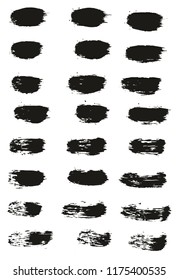 Paint Brush Lines High Detail Abstract Vector Background Set 44
