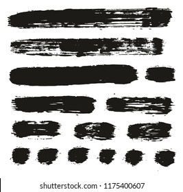 Paint Brush Lines High Detail Abstract Vector Background Set 76