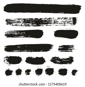 Paint Brush Lines High Detail Abstract Vector Background Set 78