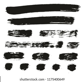 Paint Brush Lines High Detail Abstract Vector Background Set 91