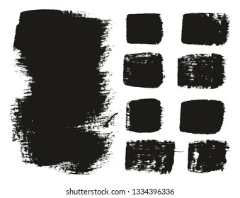 Paint Brush Medium Background & Lines High Detail Abstract Vector Background Mix Set 18