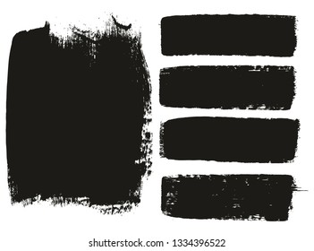 Paint Brush Medium Background & Lines High Detail Abstract Vector Background Mix Set 11