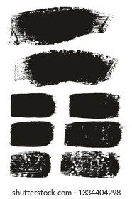 Paint Brush Medium Background & Lines High Detail Abstract Vector Background Mix Set 92