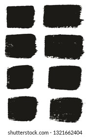 Paint Brush Medium Lines High Detail Abstract Vector Background Set 21