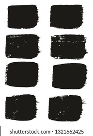 Paint Brush Medium Lines High Detail Abstract Vector Background Set 29