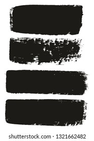 Paint Brush Medium Lines High Detail Abstract Vector Background Set 47