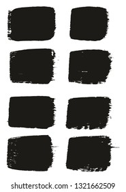 Paint Brush Medium Lines High Detail Abstract Vector Background Set 50