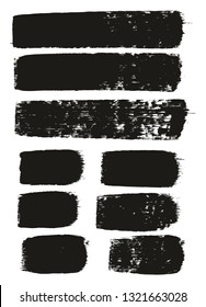 Paint Brush Medium Lines High Detail Abstract Vector Background Set 146