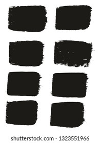 Paint Brush Medium Lines High Detail Abstract Vector Background Set 57
