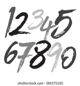 Paint brush numbers