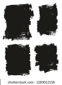 Paint Brush Thin Background High Detail Abstract Vector Background Set 22
