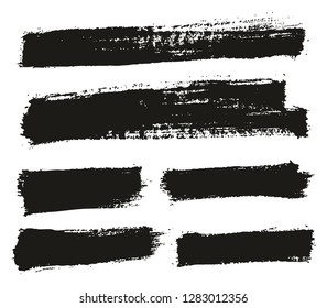 Paint Brush Thin Background High Detail Abstract Vector Background Set 83