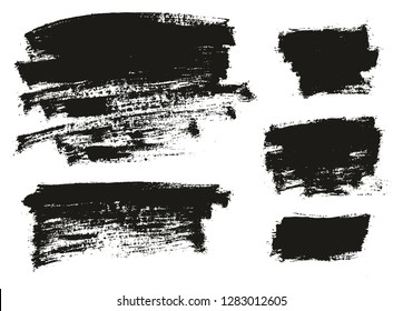 Paint Brush Thin Background High Detail Abstract Vector Background Set 116