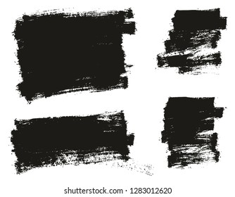 Paint Brush Thin Background High Detail Abstract Vector Background Set 119