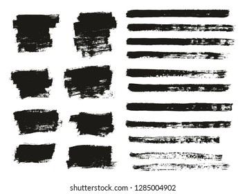 Paint Brush Thin Background & Lines High Detail Abstract Vector Background Mix Set 17
