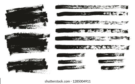 Paint Brush Thin Background & Lines High Detail Abstract Vector Background Mix Set 16
