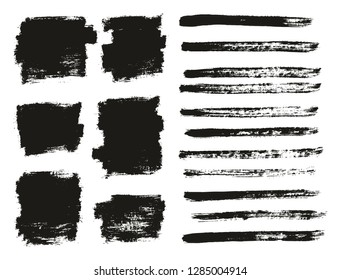 Paint Brush Thin Background & Lines High Detail Abstract Vector Background Mix Set 19