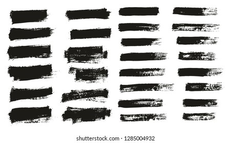 Paint Brush Thin Background & Lines High Detail Abstract Vector Background Mix Set 23