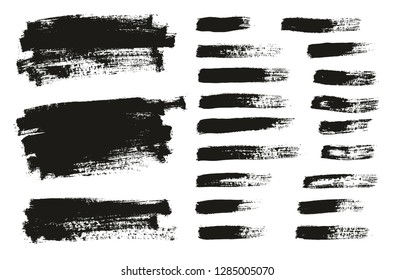 Paint Brush Thin Background & Lines High Detail Abstract Vector Background Mix Set 67