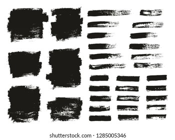 Paint Brush Thin Background & Lines High Detail Abstract Vector Background Mix Set 125