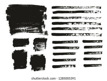 Paint Brush Thin Background & Lines High Detail Abstract Vector Background Mix Set 138