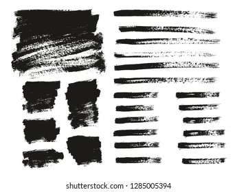 Paint Brush Thin Background & Lines High Detail Abstract Vector Background Mix Set 137